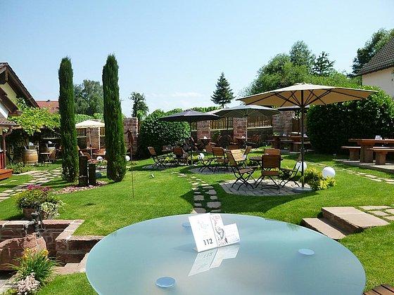 Garten im Restaurant