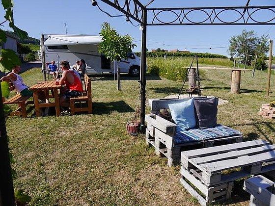 Reisemobilstellplatz beim Weingut Ehrhart